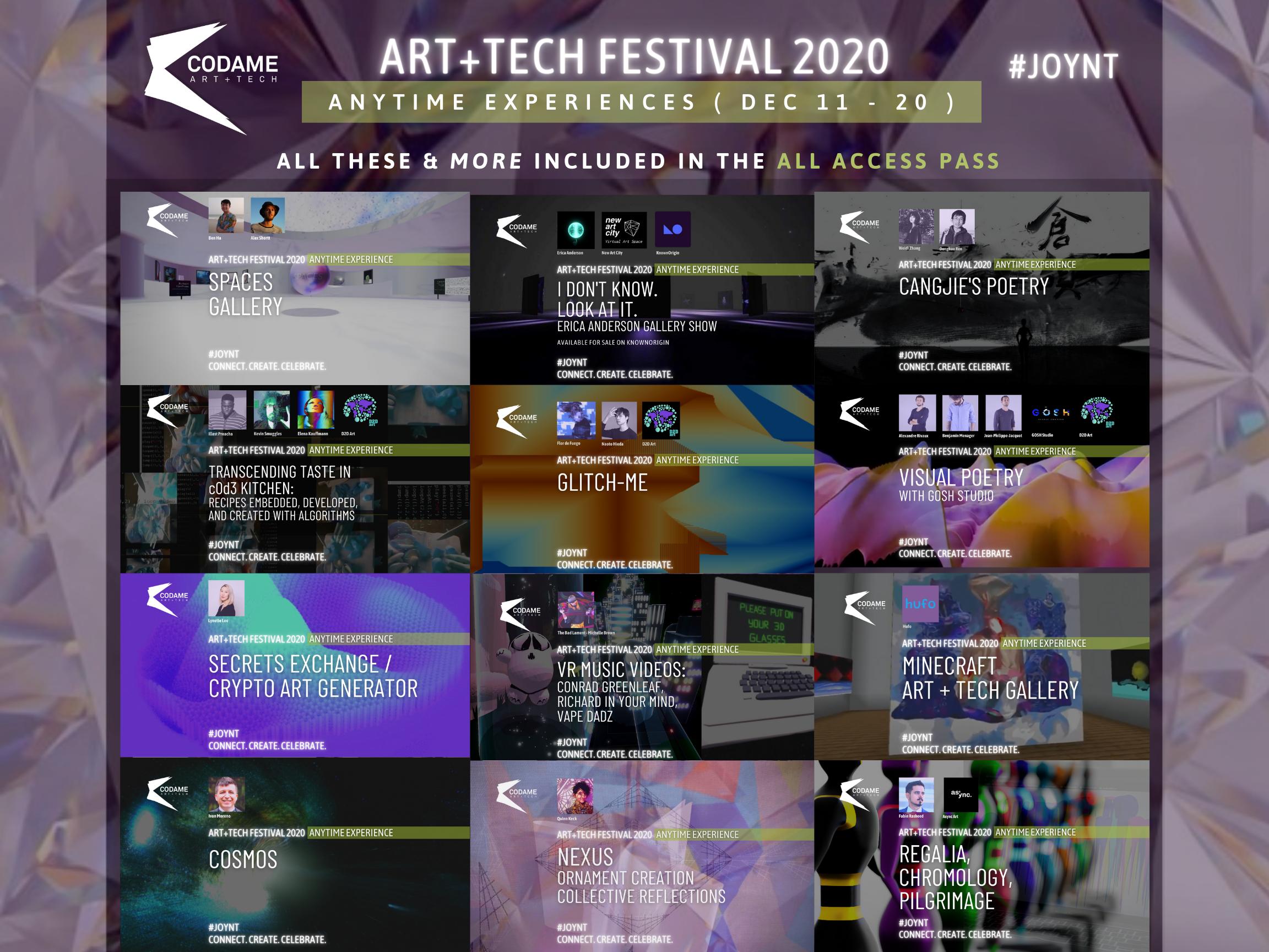 Anytime Experiences @ ART+TECH Festival 2020 『 JOYNT 』