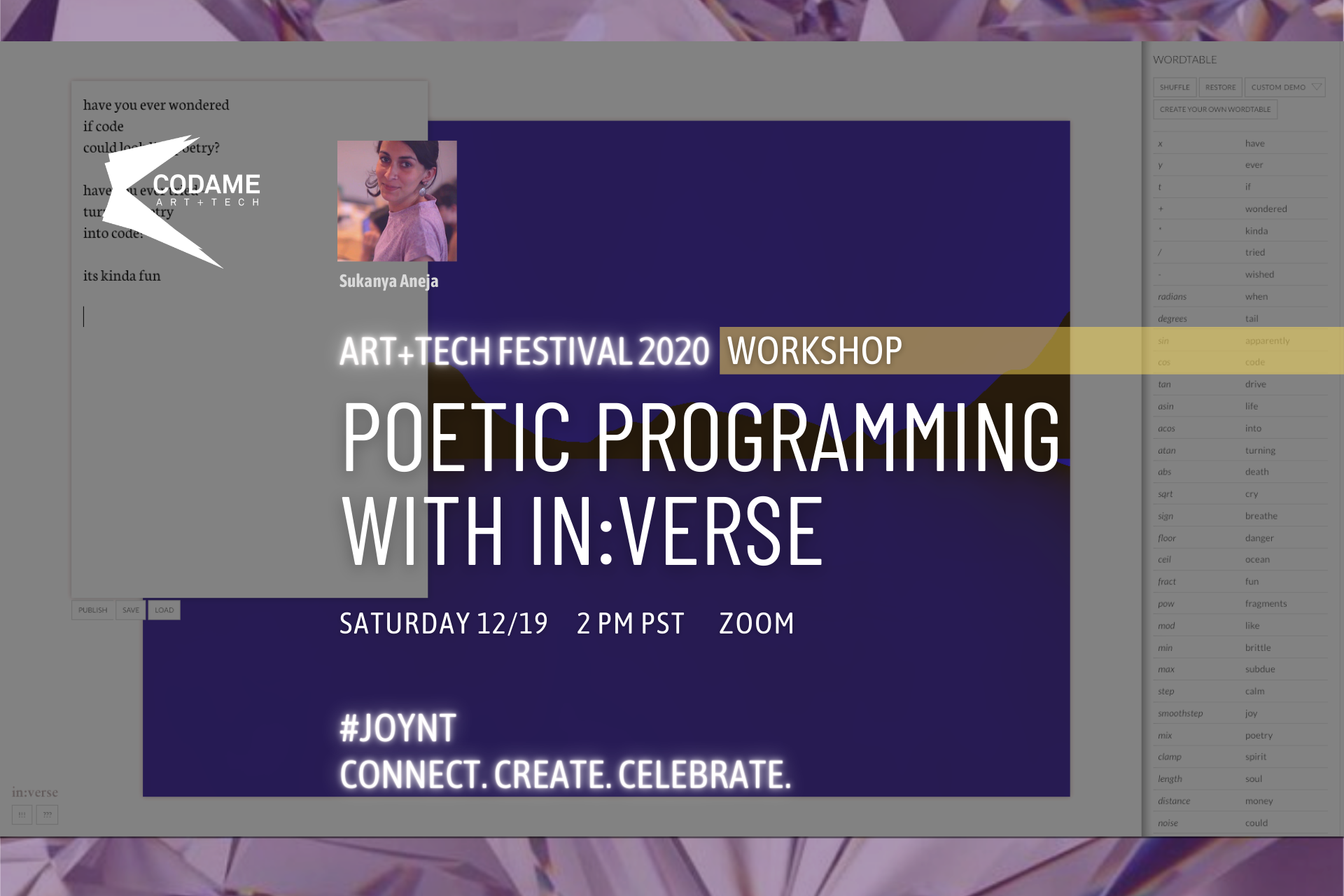 Poetic Programming with in:verse