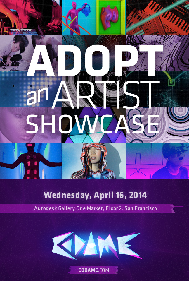Adopt an Artist – Showcase at Autodesk Gallery (Apr. 16)